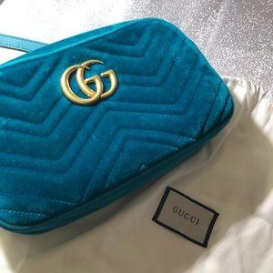 Authentic Gucci Marmont Velvet Crossbody